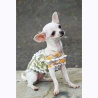 Chihuahua Clothes Unique Crochet Dog Clothes Rustic by myknitt