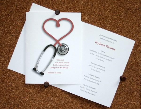 Nursing Graduation Announcement Set Of 10 Medical School