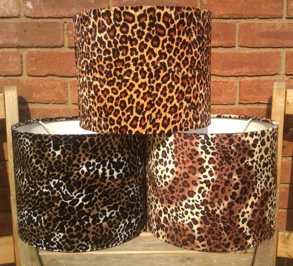Leopard Print Velour Drum Lamp Light Shades Fits