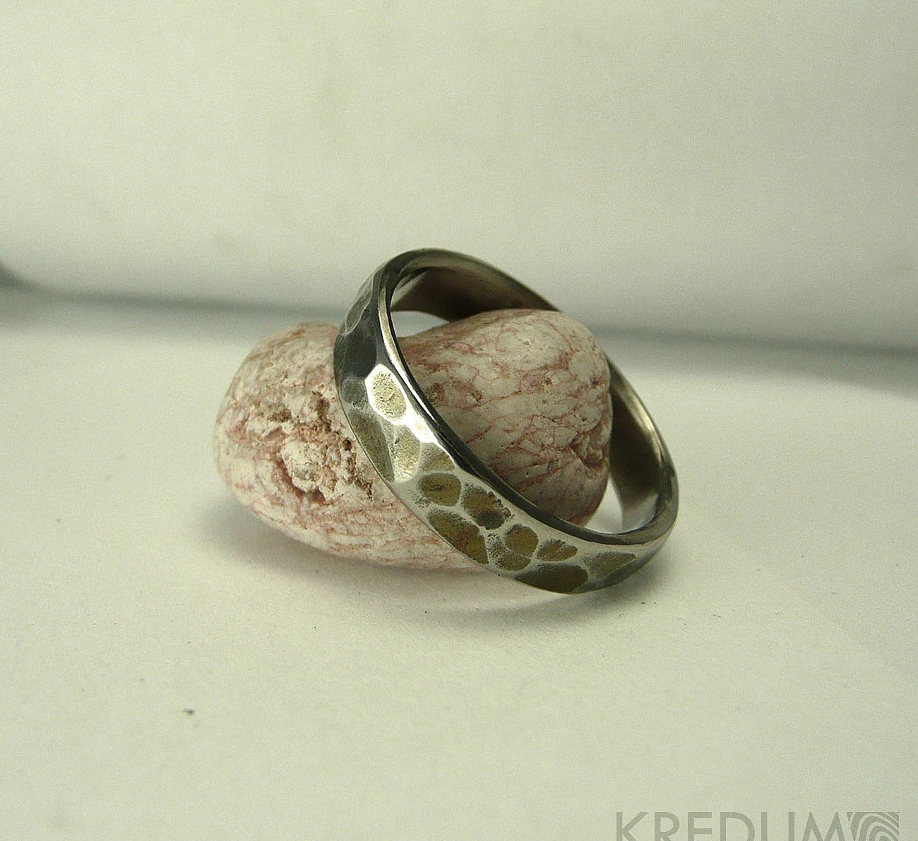 Unique wedding ring for men and women Hand forged by KREDUM