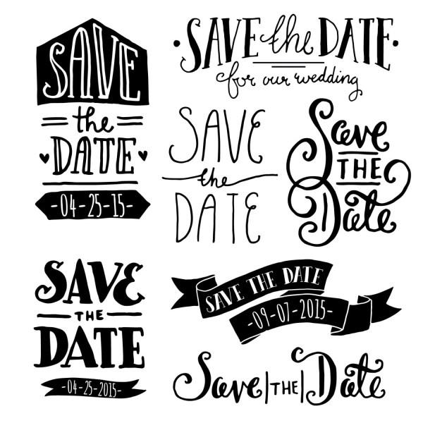 clip art save date overlays