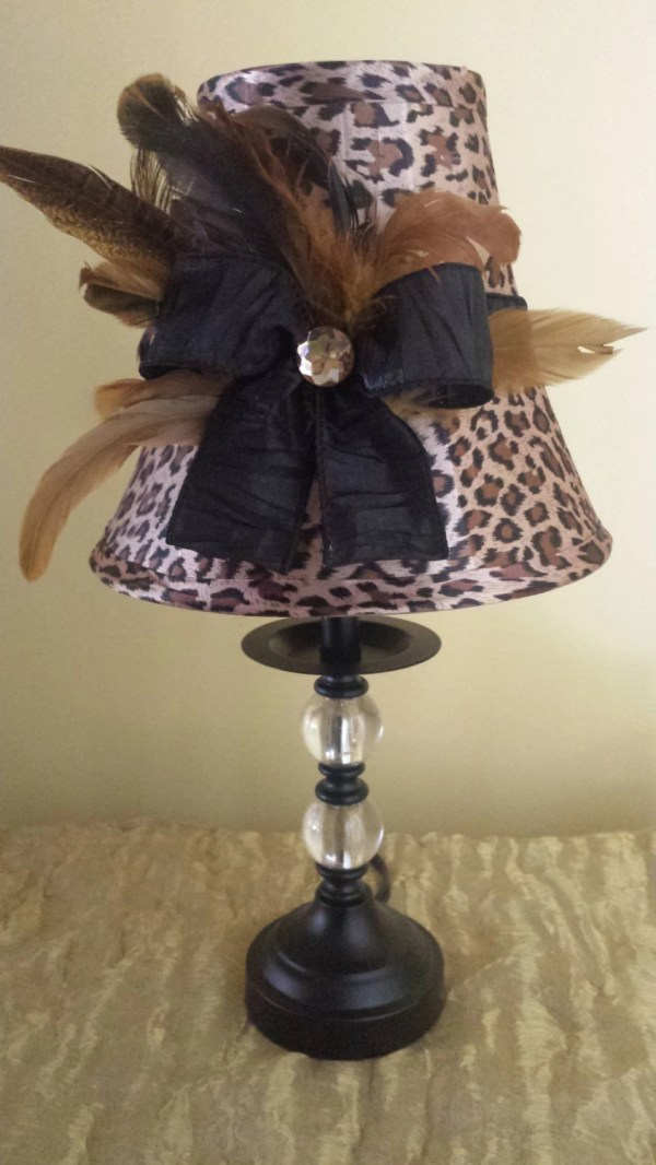 Leopard And Feather Lamp Gottagetitcreations