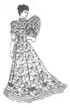 PA206 1890's Tea Gown Sewing Pattern by Past Patterns