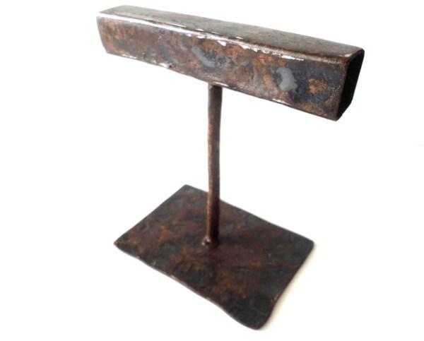 Metal Jewelry Display Stand Bracelets Industrial Rust