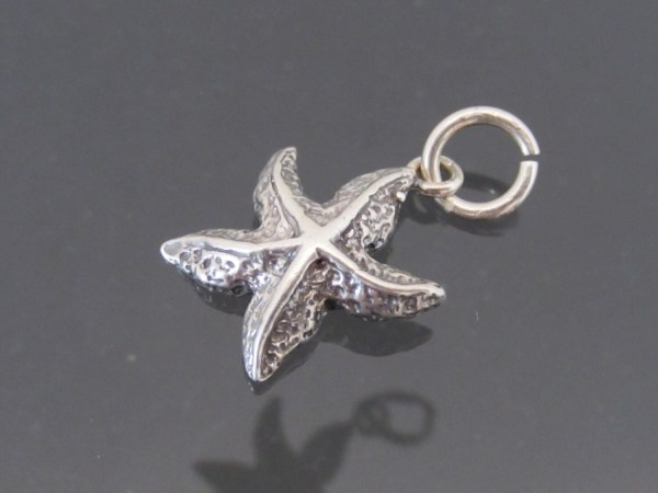 Vintage Sterling Silver Starfish Charm Pendant