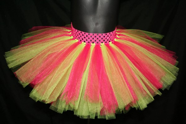 Hot Pink And Yellow Tutu Skirt Skirts