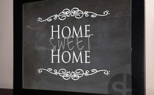 Printable Wall Art Decor Home Sweet Home By Lobackdesign