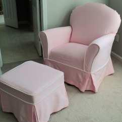 Chair And Ottoman Slipcover Set Charles Eames Lounge Custom Nursery Glider