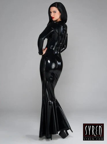 Madonna Latex Gown Syren Latex Fetish Fashion by SyrenLatex