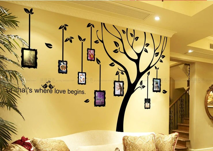 Family Tree Decal Photo Frame Wall DecalLarge By