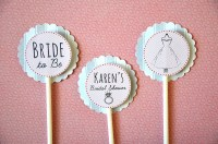 12 Personalized Bridal Shower Cupcake Toppers by ...