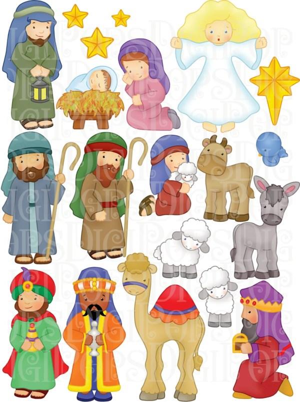 nativity digital clip art set personal