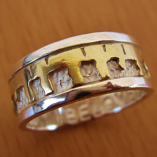 Beloved' Ring Two-tone Gold & Silver