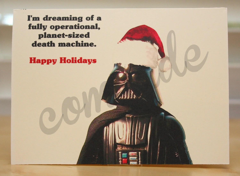 Star Wars Christmas Card Holiday Card Darth Vader Funny