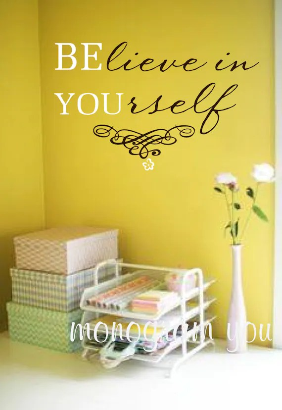 Believe in Yourself Decal by MonogramYou