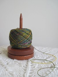 Yarn holder Lacewood caddy for knitting and crochet lazy