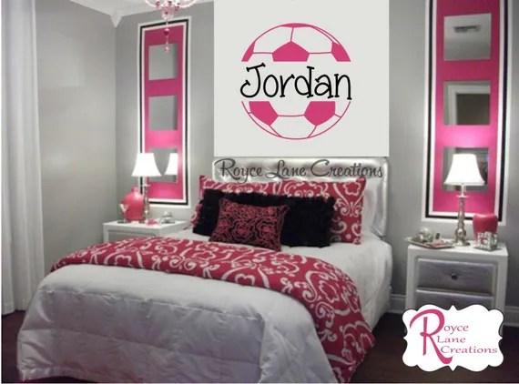 Mudding Soccor Girl Wallpaper Soccer Ball Soccer Wall Decal B4 For Girls Room Teen Girl