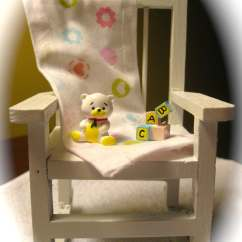 Chair For Baby Shower Black Leather And A Half With Ottoman Rocking Cake Topper By Avalonsbrowsery