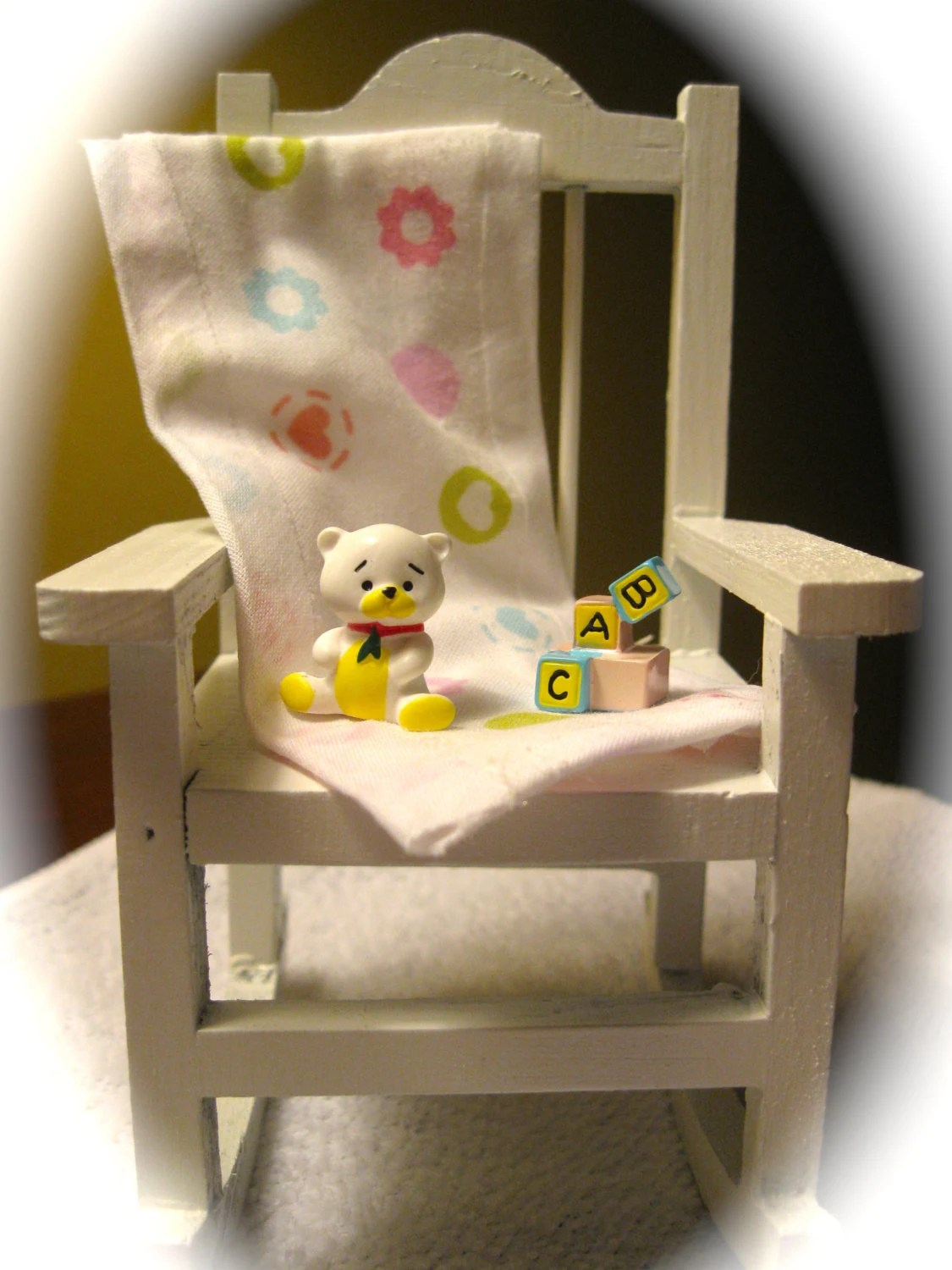 how to make a baby shower chair kids chairs ikea rocking cake topper by avalonsbrowsery