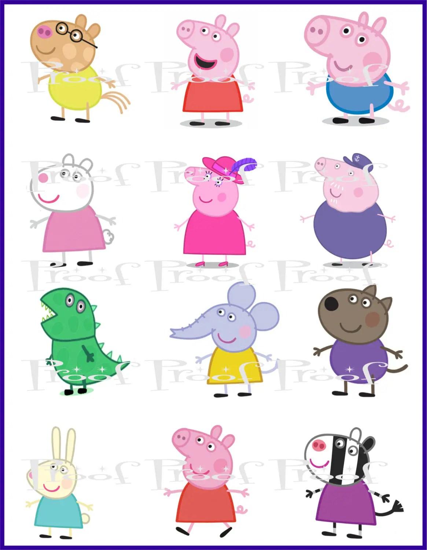 Peppa Pig Digital Diy Printable Birthday Party Centerpiece