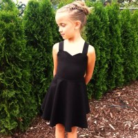 Girls little black dress Toddler black dress Custom dress
