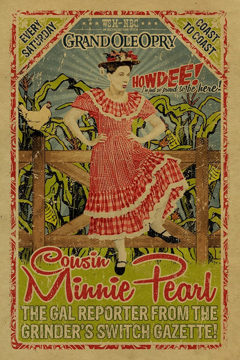 Minnie Pearl Poster Grand Ole Opry 12x18 Country Music