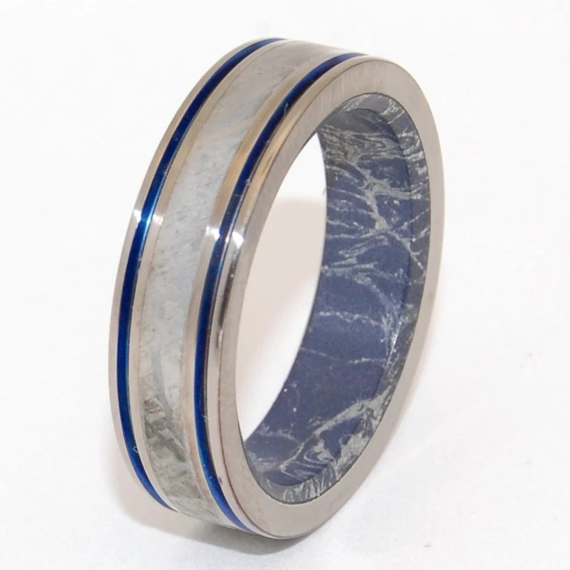 Titanium Wedding Rings meteorite wedding ring meteorite