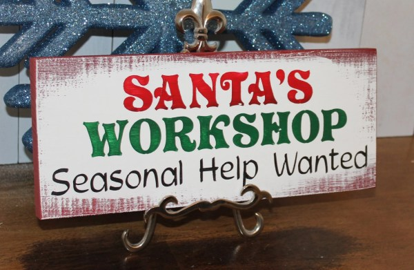 Santa' Workshop Seasonal Wanted Christmas
