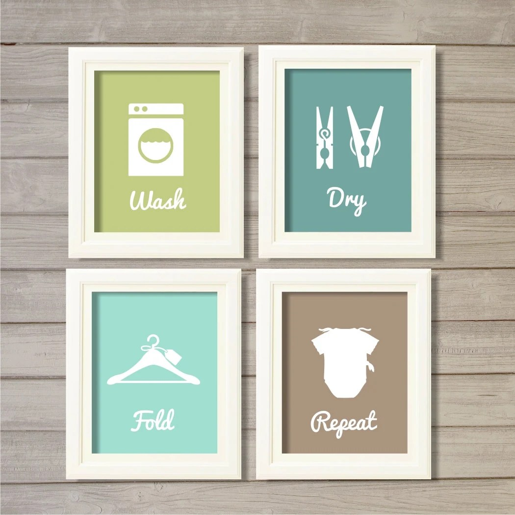 Laundry Room Wall Art Printable 8x10 Instant Download Print