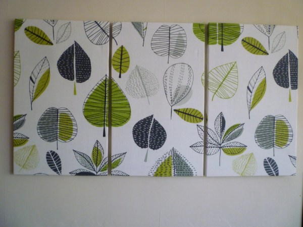 Big Lime Green Fabric Wall Art Funky Retro Designer Cotton