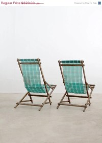 vintage deck chairs / rocking beach chairs by 86home on Etsy