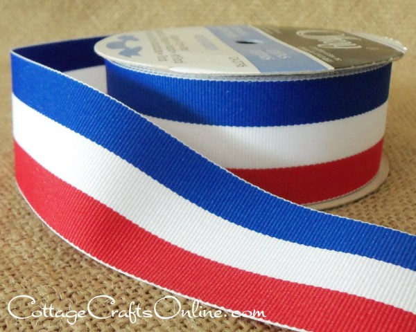 Grosgrain Ribbon 1 2 Red White And Blue Stripes