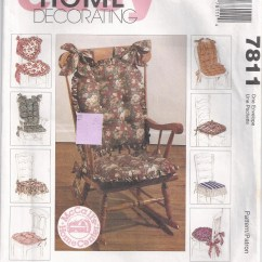 Sewing Patterns For Chair Cushions Pewter Place Card Holders Pillows Pads With Ties Pattern 1995