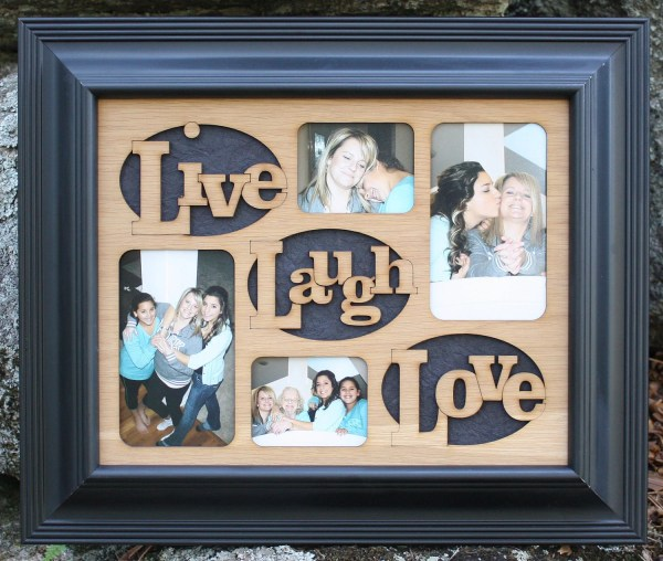 11x14 Live Laugh Love Wood Mat Collage Insert Frame