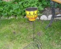 Vintage Iron Stake 4 Garden Stakes 4 Metal Plant Holders