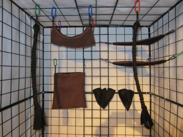 8 Pc Bedding Sugar Glider Cage Set Choose Colors
