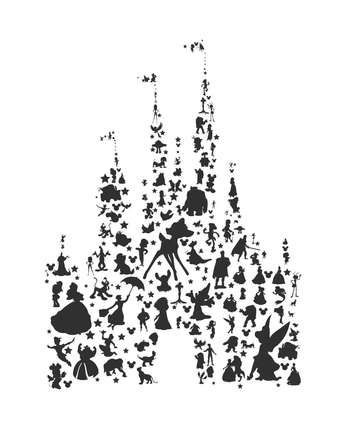 Disney Character Silhouettes Car Interior Design