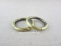 2 pieces Purse Making Hardware Brushed Gold O Rings Spring