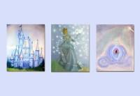 Cinderella Art Princess Wall Art Nursery Decor by handpainting