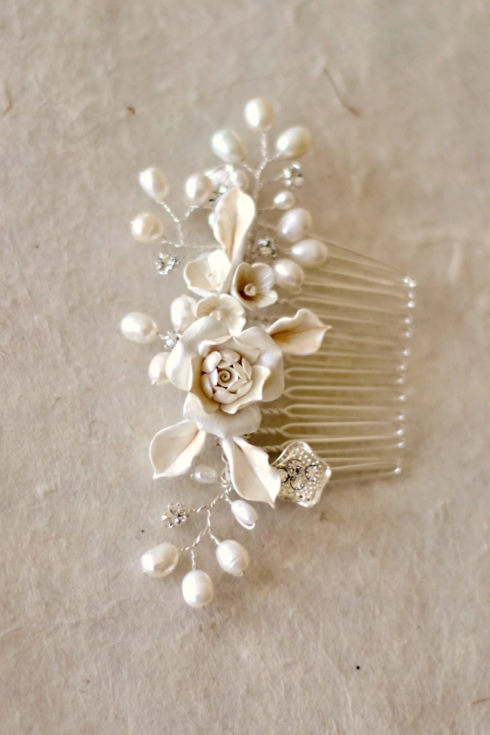 Bridal Hair Comb Wedding Decorative Combs By ShesAccessories