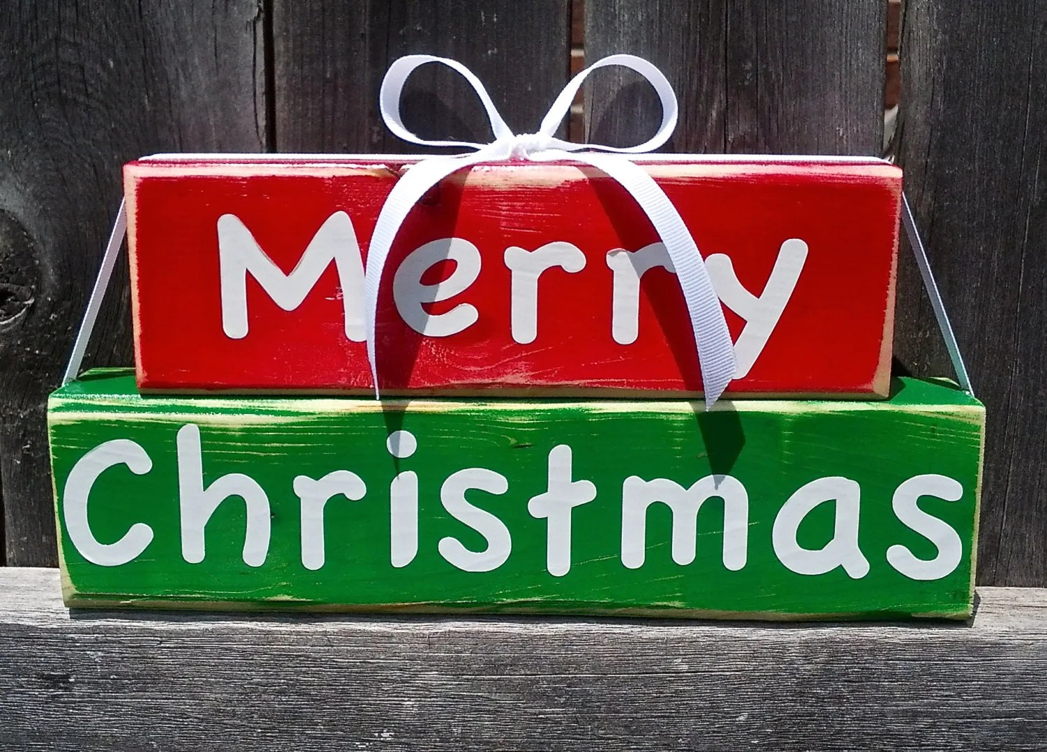 Merry Christmas Fun And Cute Wood Block Decor Sign By