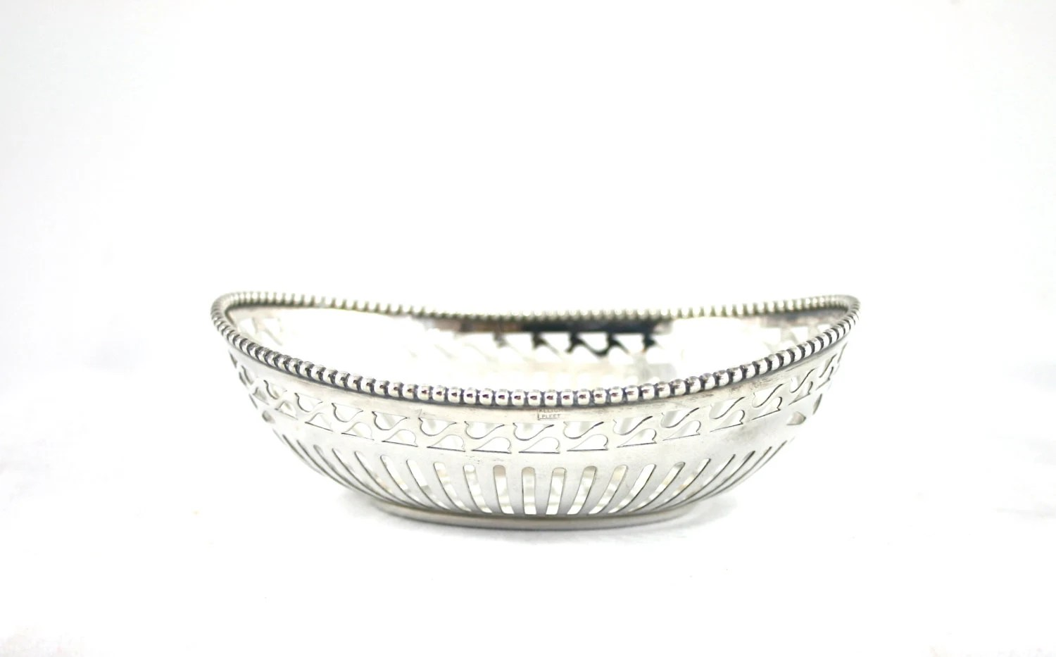 Silver Plated Wire Basket Silver Bread Basket Small Silver