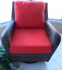 Red Cushion Set Patio Indoor Outdoor Deep Seat Furniture