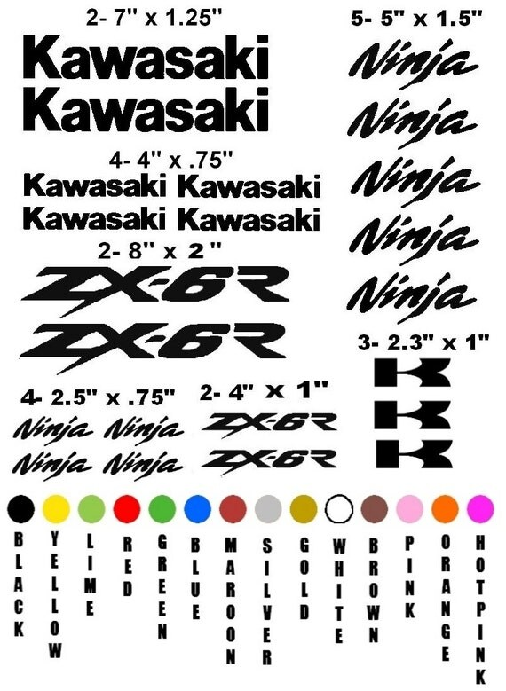 KAWASAKI ZX-6R NINJA motorcycle sticker decal kit race racing