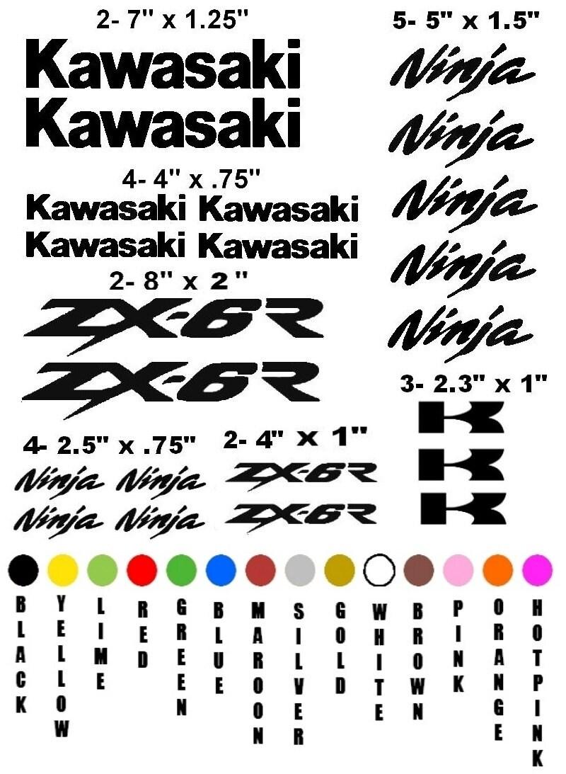 KAWASAKI ZX-6R NINJA motorcycle sticker decal kit race racing
