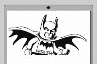 Items similar to Batman Lego Character Cameo Silhouette ...