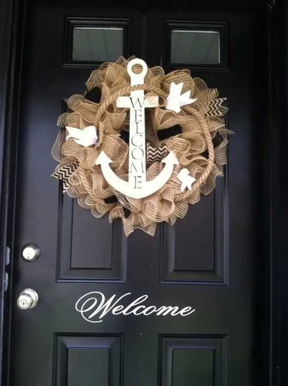 Summer Wreath Anchor Wreath Nautical Wreath Shore Wreath