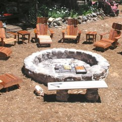 Fire Pit And Adirondack Chairs All Weather Reclining Garden Custom Pits Designed To Cook On Open Cookery Real