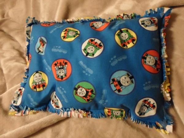 Thomas Train Kids Throw Pillow With Ragged Edge