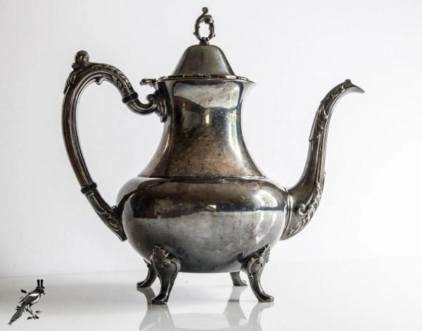 Vintage Teapot Coffeepot Silverplate Silver Plate